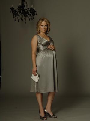 Ripe Maternity - Deluxe Satin Dress (Dahlia (Dark Periwinkle), Medium)-0