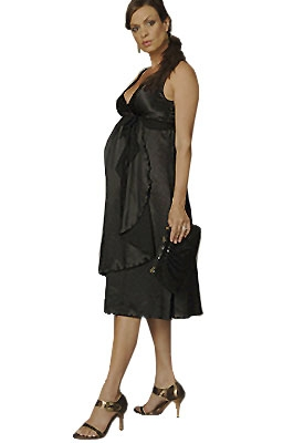 Ripe Maternity - Maggie Satin Dress-0