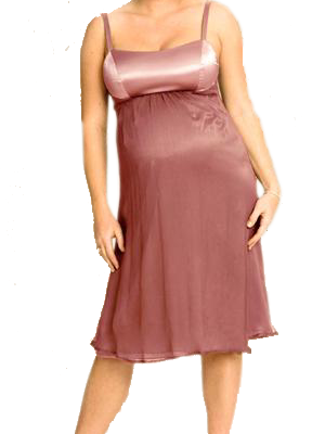 Ripe Maternity - Diva Satin/Chiffon Dress-0