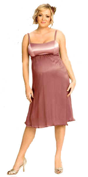 Ripe Maternity - Diva Satin/Chiffon Dress-0