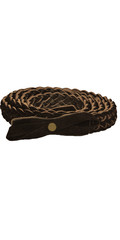 Leather Braided Belt with Suede Bow