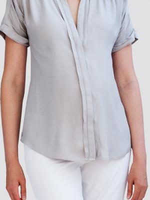 Slacks & Co. Maternity Amalfi pleated blouse