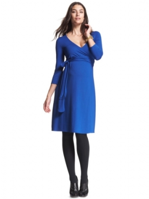 Isabella Oliver Wrap Maternity Dress in Cobalt-0
