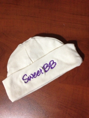 Sweet BB Hat - One Size (Purple Lettering)-0