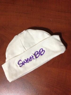 Sweet BB Hat - One Size (Purple Lettering)-0