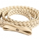Slacks & Co. Belt - Braided Leather in Cream-0
