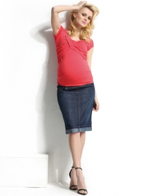 9fashion crossover bust maternity top by 9fashion