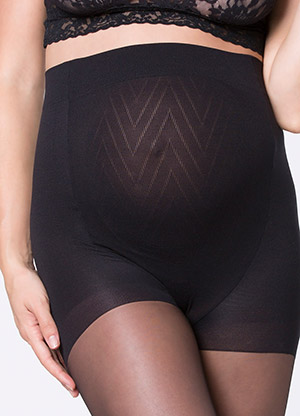 sheet pantyhose with built-in belly panel