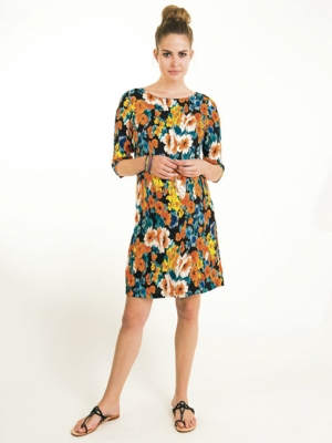 Fragile flora a-line dress for maternity and after