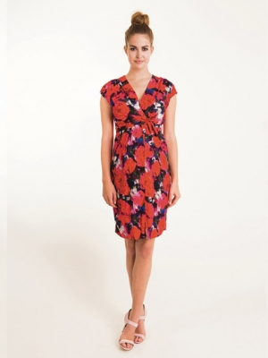 Fragile floral knotted maternity dress