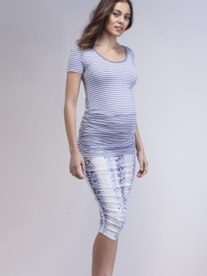 Isabella Oliver ruched stripe maternity tee