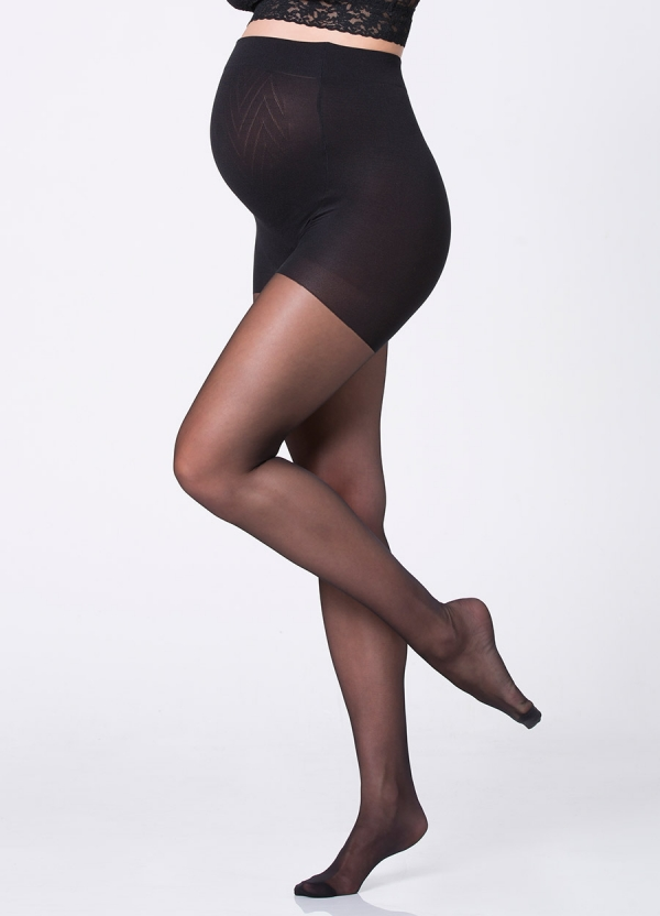 Ingrid & Isabel Sheer Maternity Pantyhose in Black-13260