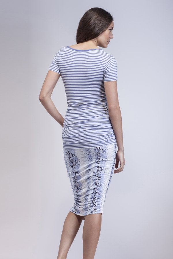 comfortable jersey maternity tee in stripes