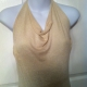 halter top in metallic knit