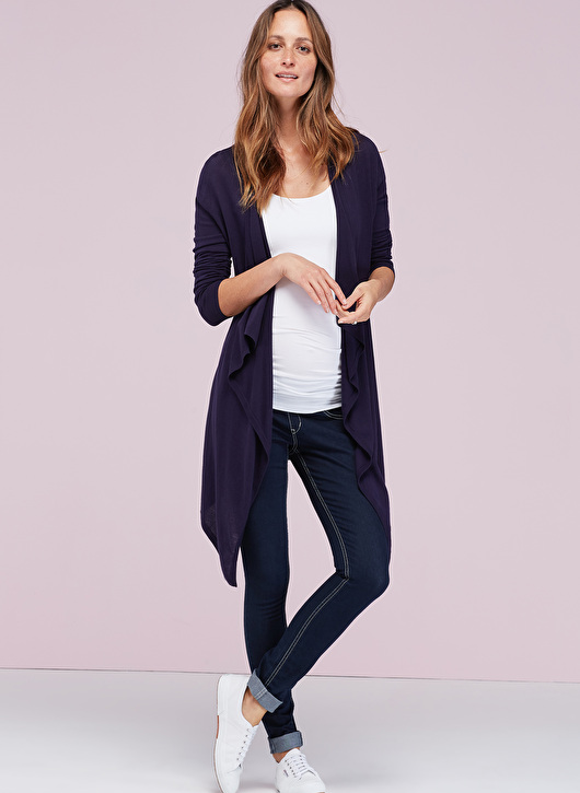 knitted maternity cardigan that can be dressed or down