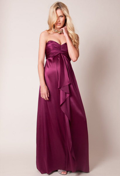 stunning maternity evening gown with built in bra
