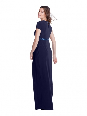 Isabella Oliver Maxi Dress with Sequin Trim