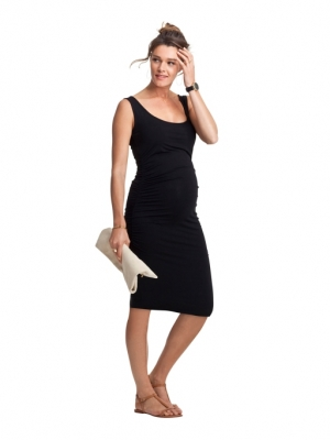 ruched tank dress for maternity