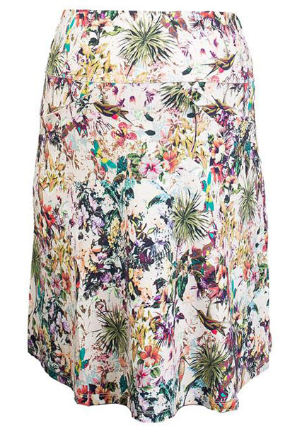 Queen Mum maternity jungle print skirt