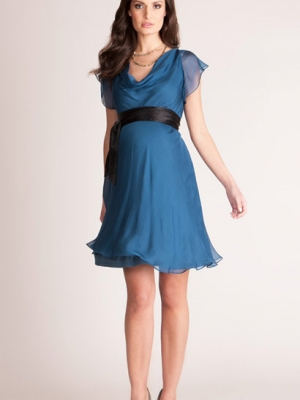 Seraphine Luxe Lizzie - Silk Chiffon Cocktail Dress