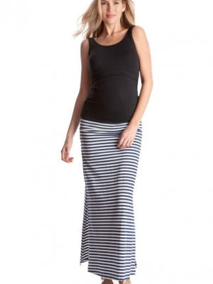 Seraphine nautical maternity maxi skirt