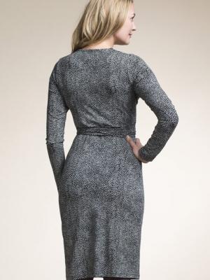 Boob pregnancy and breastfeeding dress Charlie in Black Print
