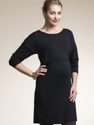 Boob maternity/nursing dress Mira in black