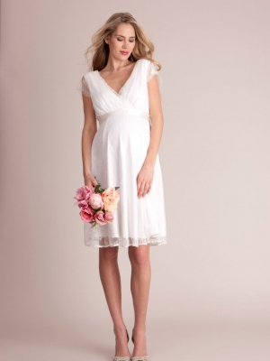 Seraphine Vivienne Short Lace Maternity Wedding Dress