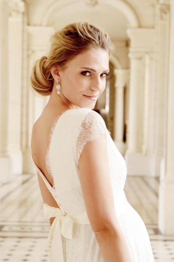 Seraphine vivienne matenrity wedding dress in ivory