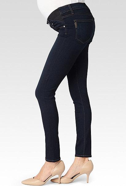 PAIGE Skyline Skinny Maternity Jeans Mona in Dark Indigo Wash-14312