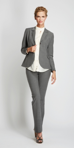 Slacks & Co. New York Classic Trousers in Seasonless Stretch Wool-14496