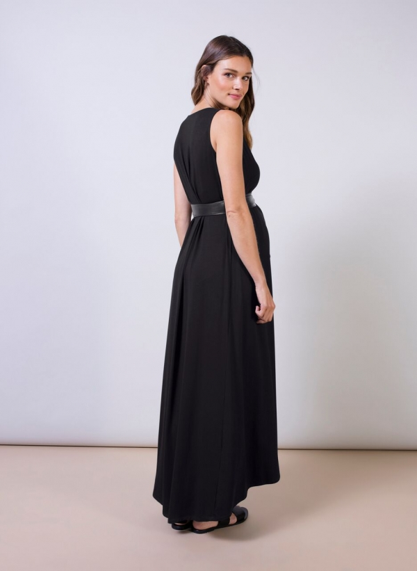 Atwell Maxi Maternity Dress with belt