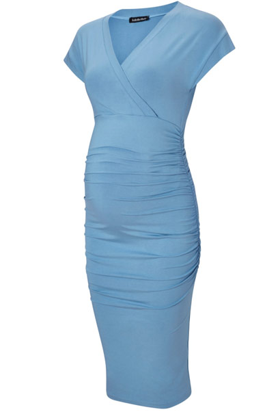 Isabella Oliver Halstead maternity dress in light blue