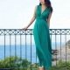 Seraphine Jo Knot Front Maternity Maxi Dress in Emerald-0