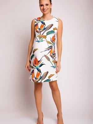 Pietro Brunelli sleeveless maternity dress in tropical print
