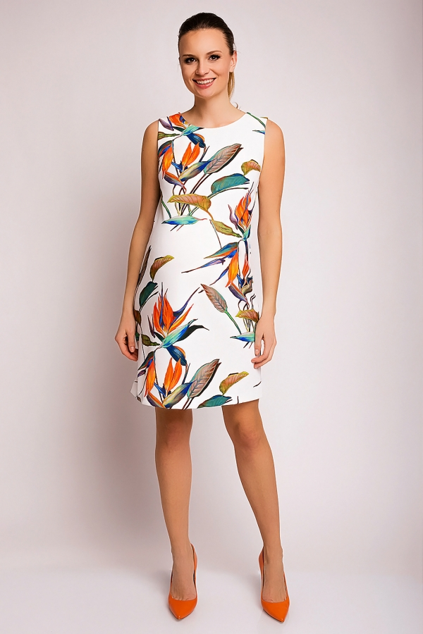 Pietro Brunelli sleeveless maternity dress in tropical print