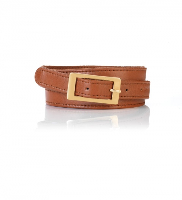 Seraphine Tan leather Maternity Belt