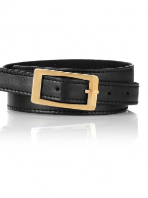 Seraphine Black Leather Maternity Belt