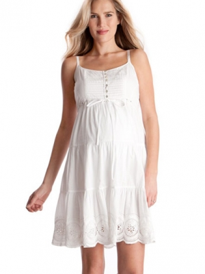 Seraphine Cotton Embroidered Maternity Sundress