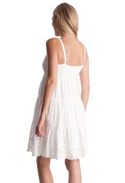 Seraphine Embroidered Maternity Sundress