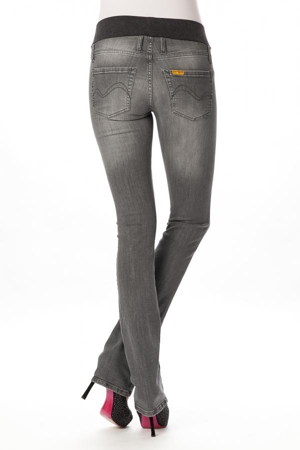 stylish maternity skinny jeans in medium grey wash