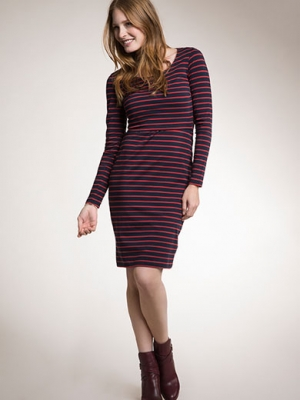 Boob nursing dress simone in stripes