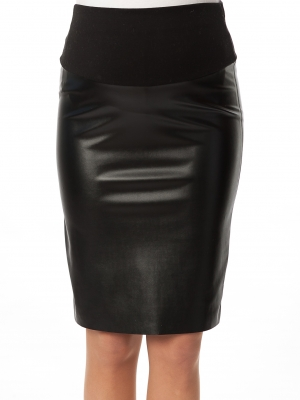 Pietro Brunelli pencil skirt in faux leather