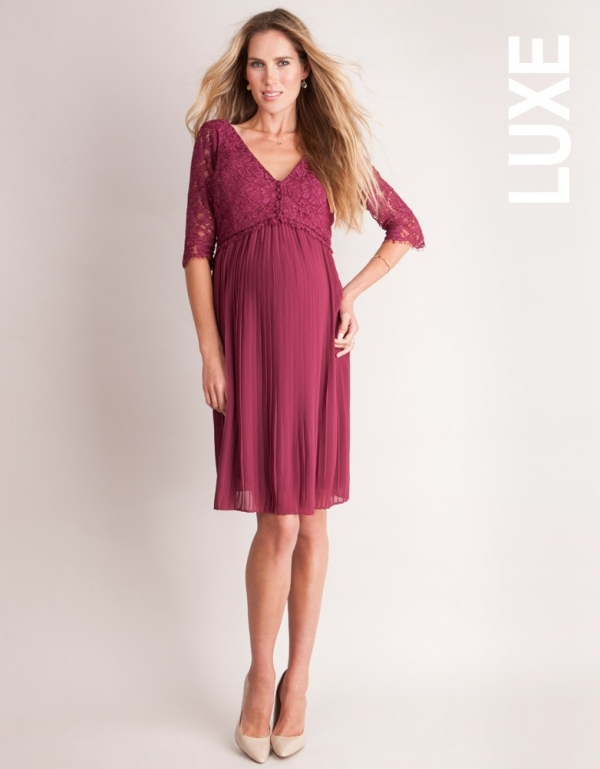 Seraphine Luxe Maternity/Nursing dress for special occasions