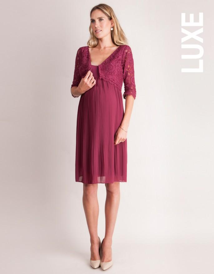 ee52661cf5a Luxe Susana Pleated Maternity   Nursing Dress - hautemama