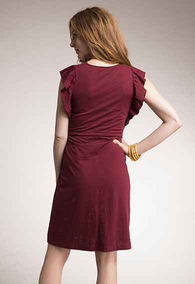 Boob Dress Alicia in Pomegranate (Maternity / Nursing)-15312