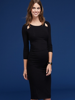 Isabella Oliver Anetta Maternity Dress with cut-out detail