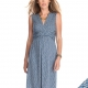 Seraphine Abagail sleeveless dress with crossover bustline and empire waist