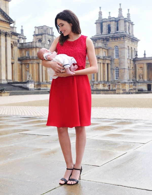 a comfortable special occasion dress for nursing mothers