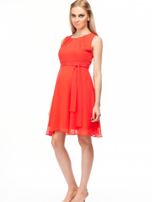 Tamigi special occasion dress in coral